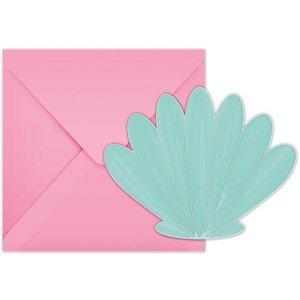 Schelp pastel uitnodigingen