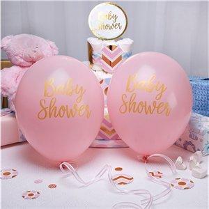 Geboorte / babyshower feestartikelen en versiering roze