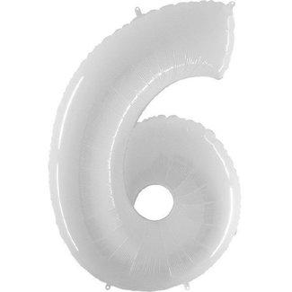Cijfer ballon XL Wit