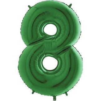 Cijfer ballon groen XL