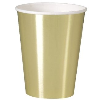 Metallic goud bekers