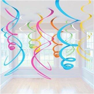 Regenboog pastel swirls