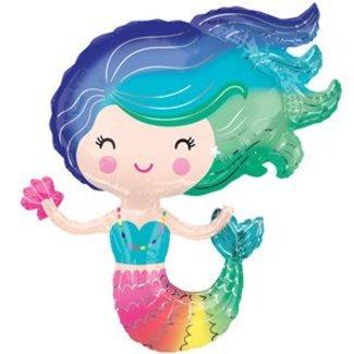 Mermaid regenboog XL ballon