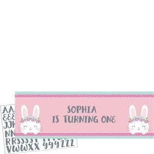 Bunny spandoek met eigen tekst