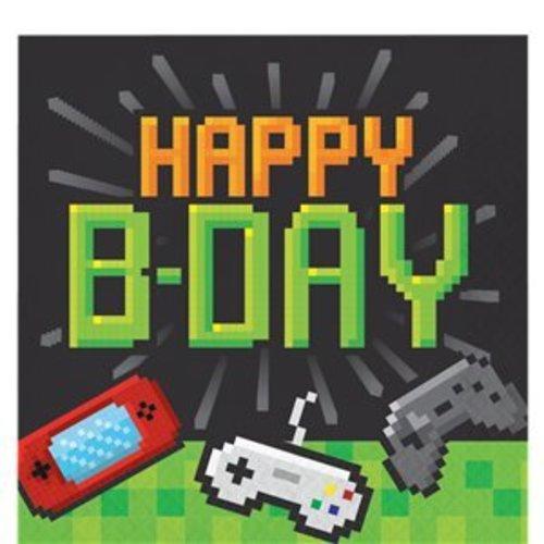 Game on servetten Happy birthday