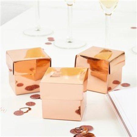 Bedank doosjes rose goud