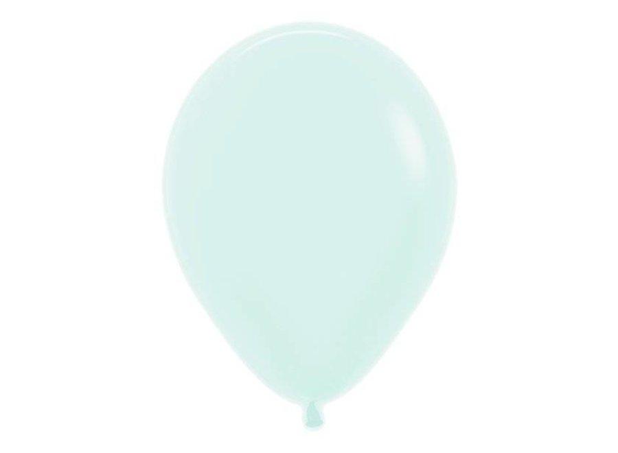 Mint groen mat ballonnen