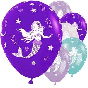 Amscan  Zeemeermin ballonnen paars
