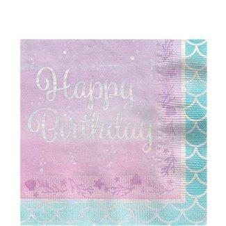 Mermaid shine happy birthday servetten