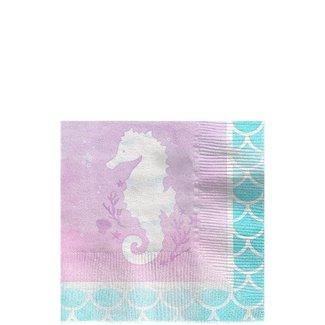 Mermaid shine zeepaardje servetten