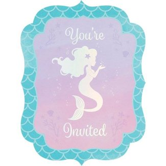 Mermaid shine uitnodigingen