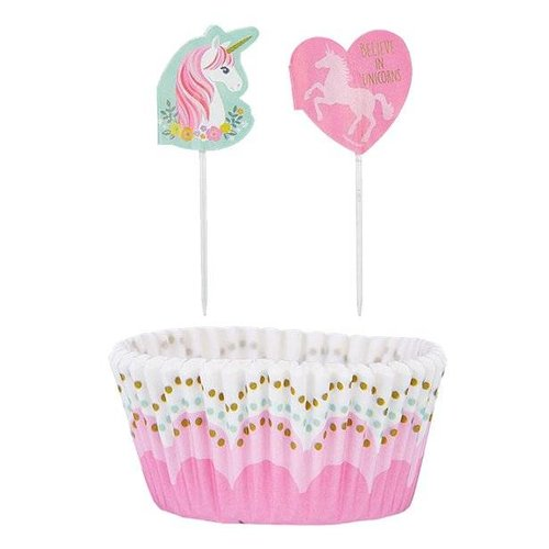 Unicorn mint cupcake set