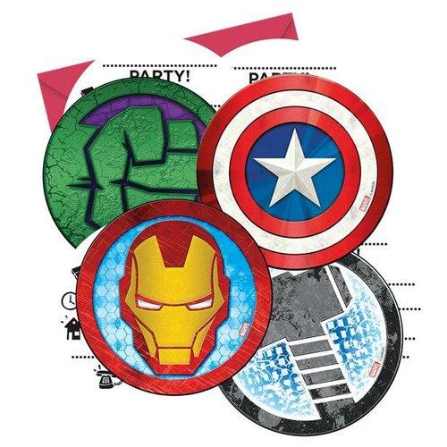 Uitnodigingen Avengers