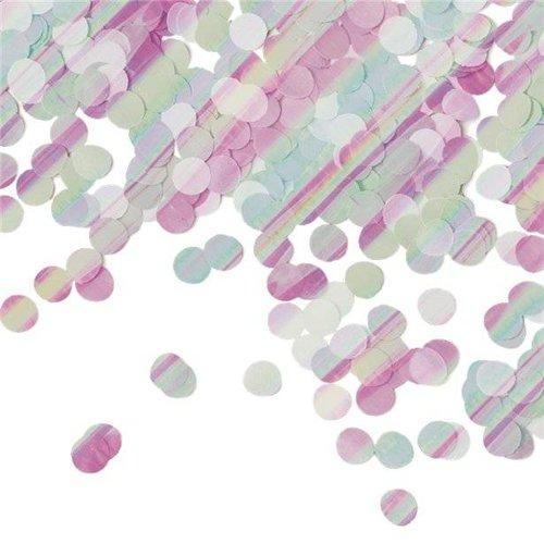 Iridescent dots confetti