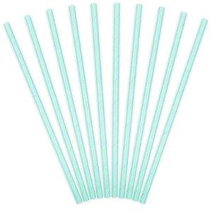 Pastel blauwe papieren rietjes