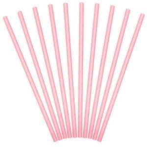 Pastel roze papieren rietjes