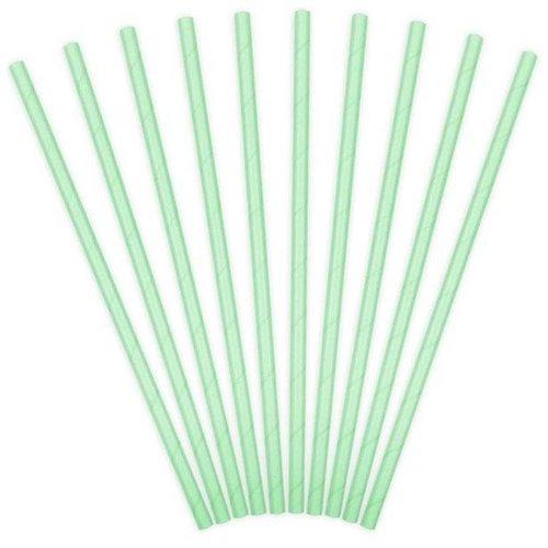 Mint groen papieren rietjes