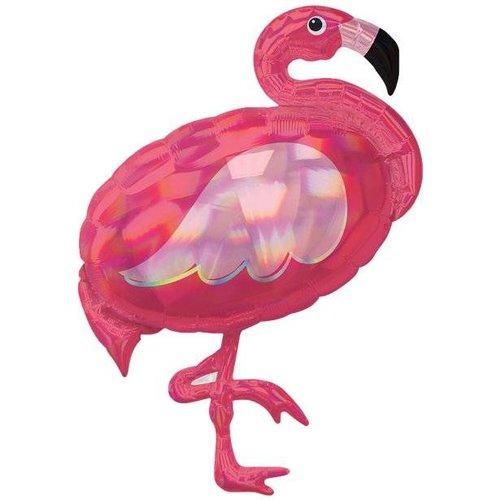 Flamingo iridescent ballon XL