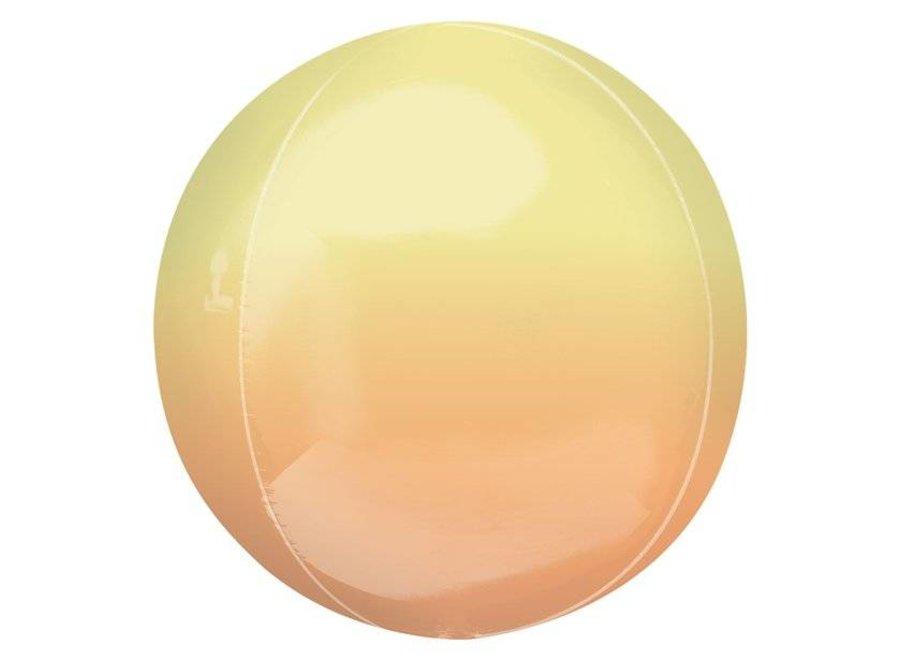 ORBZ ballon ombre geel - peach