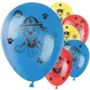 Paw patrol ballonnen blauw - rood