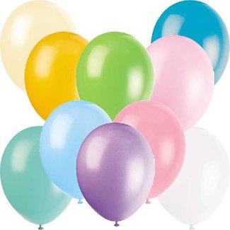 Pastel regenboog ballonnen
