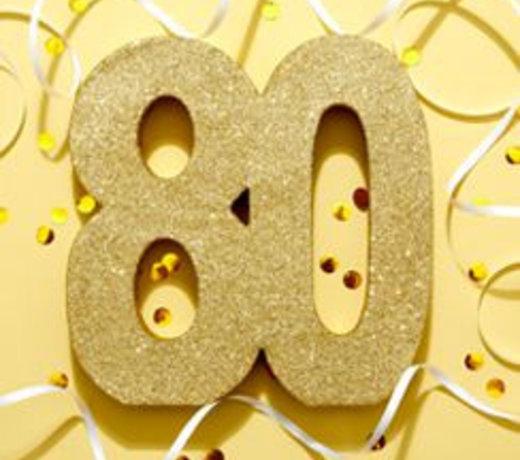 80 Jaar Feestartikelen