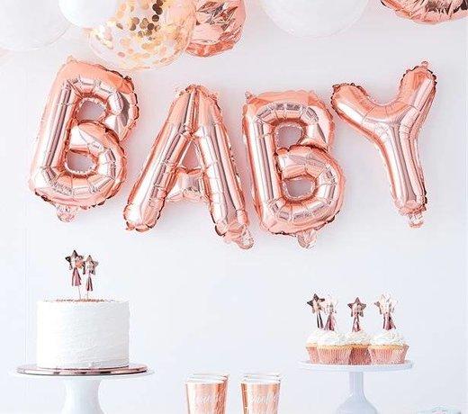 oh baby rosé goud versiering en feestartikelen
