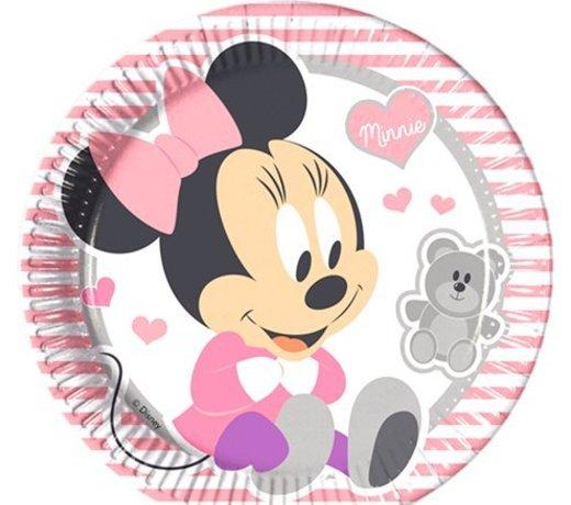 Baby minnie mouse feestartikelen voor een meisje