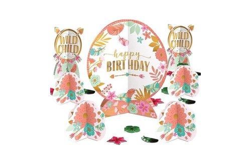 boho happy birthday feestartikelen