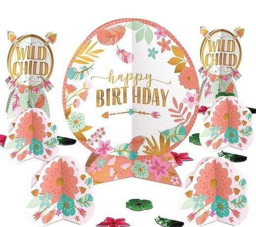 Boho happy birthday feestartikelen en versiering