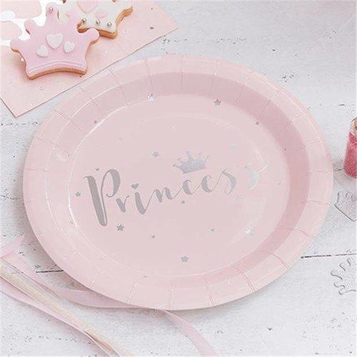 Pastel Prinses Feestartikelen in de kleur paste roze