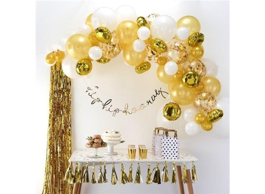 Ballonnen boog goud