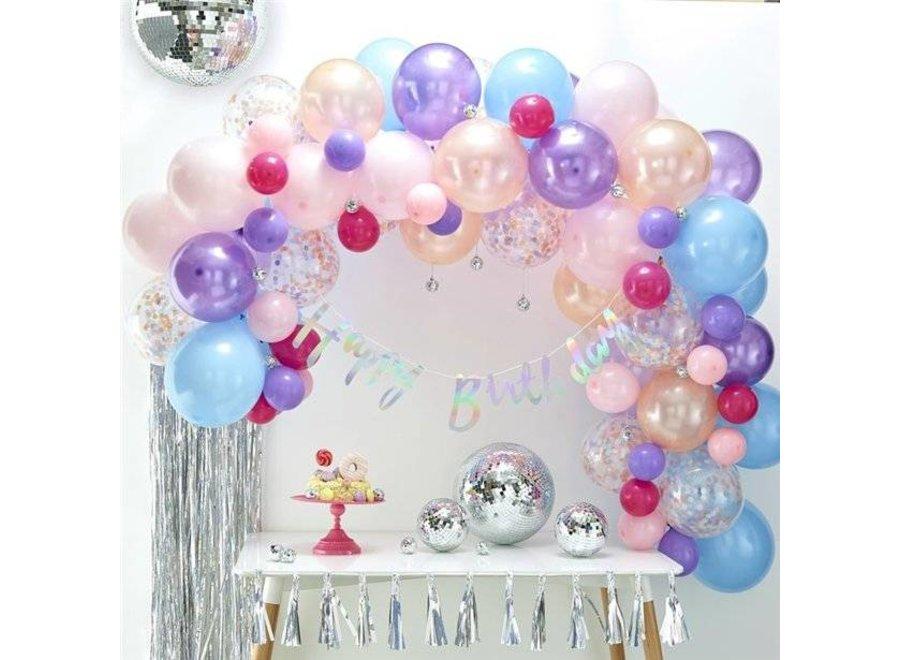 Ballonnen boog pastel