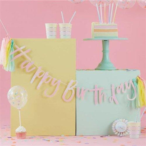 Pastel party versiering & Feestartikelen