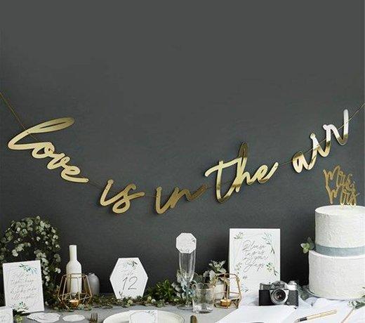Metallic huwelijk versiering & feestartikelen