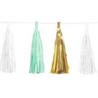 Mermaid metallic tassel garland