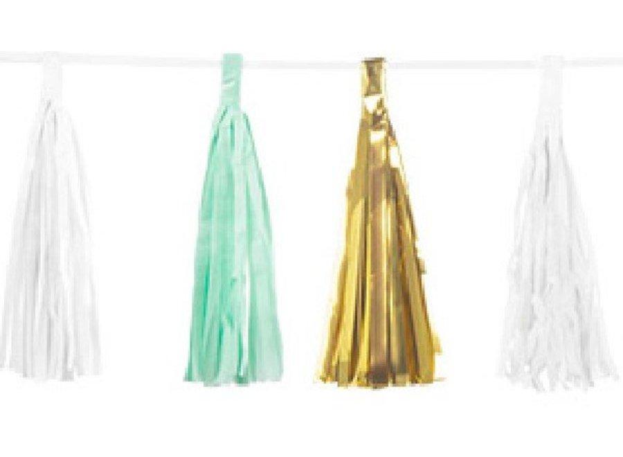 Mermaid metallic tassel garland