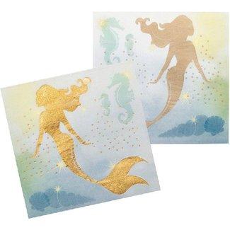 Mermaid metallic servetten