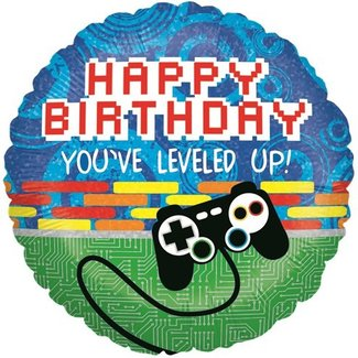Game on Happy birthday ballon