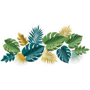 Tropical leaves decoratie