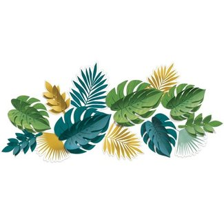 Tropical leaves decoratie