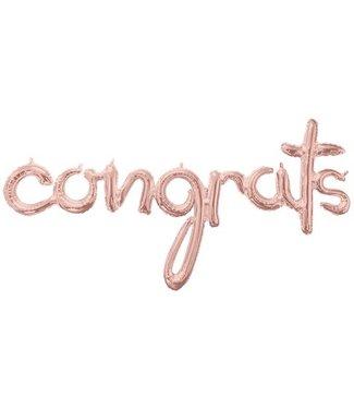congrats rosé goud ballon