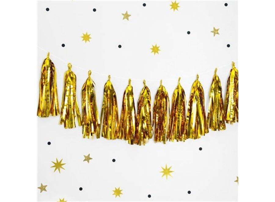 Metallic goud tassel garland
