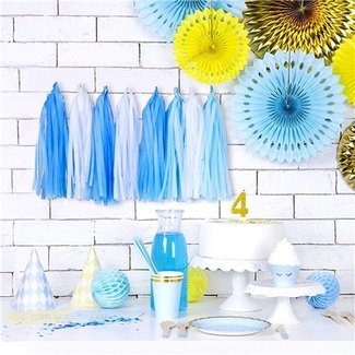 Tassel garland blauw
