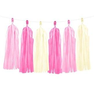 Pastel roze tassel garland