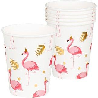 Flamingo bekers roze