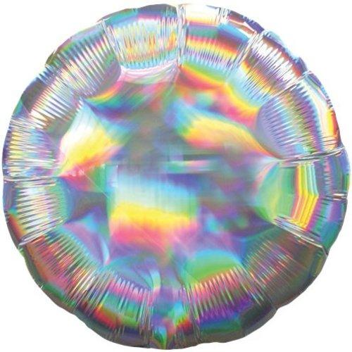 Iridescent ballon rond