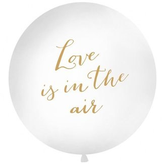 Love is in the air XL ballon wit