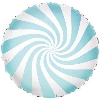 Candy swirl pastel blauw ballon
