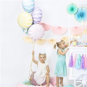Candy swirl pastel roze ballon